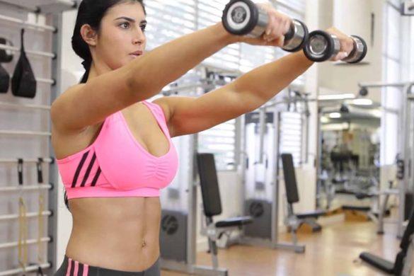 Elevação frontal academias lion fitness