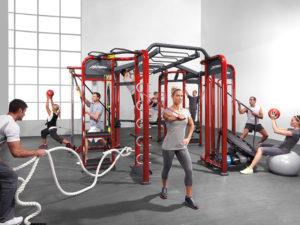 Estação de Crossfit para academias lion fitness